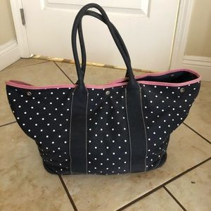 Jcrew polka dot button bag
